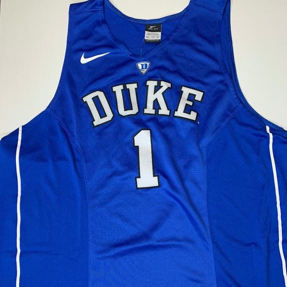 e6b2d74be8d5 Nike Elite Duke Blue Devils Stitched Jersey 2XL